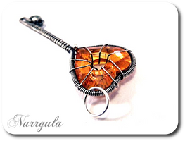 Key to the Heart - silver pendant by nurrgula