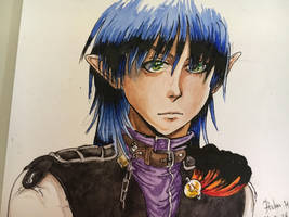 Manga experiment in watercolor  by Max-Zorin