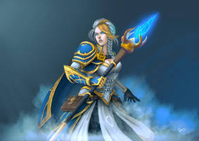Jaina Proudmoore [SPEED PAINTING] by curanmor166