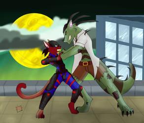 Jake vs Viper by KitzuneEcho