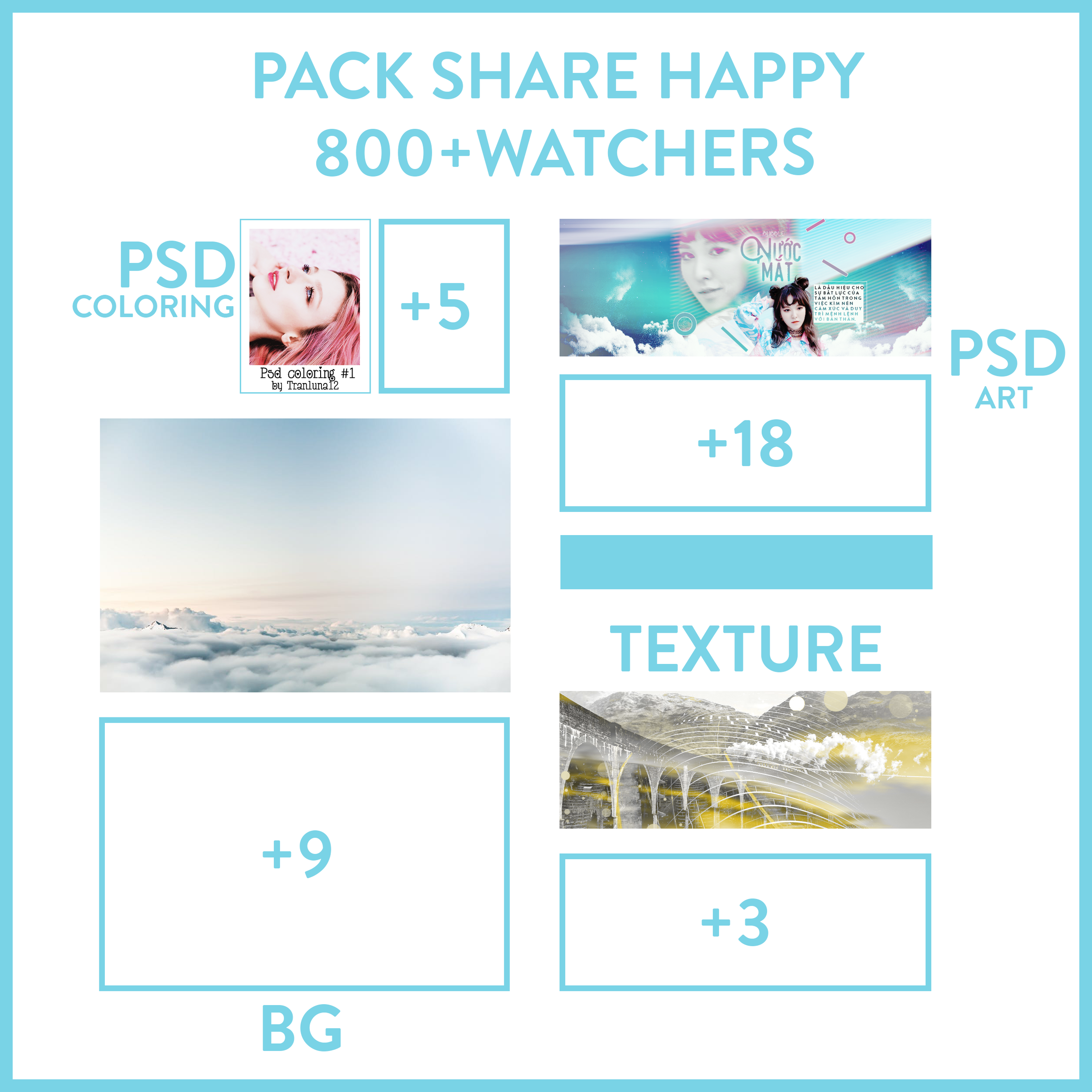 PACK SHARE 800+WATCHERS by tranluna12