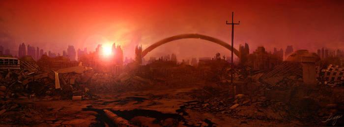 Phoenix Redux - Ruined City by VladaART