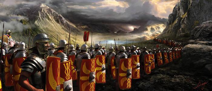 Legion Crosses The Alps by VladaART