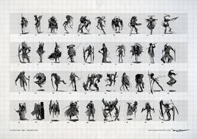 39 Character Concepts by SamYangArt