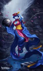 Darkstalkers: Hsien-Ko by SamYangArt