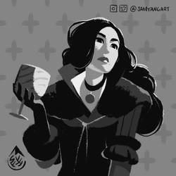 Yennefer 600x600 With Sig by SamYangArt