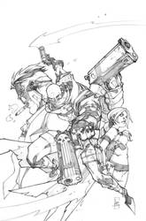 Gun ghoul issue1 cover-pencil by LudoLullabi