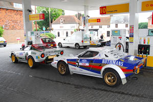 Lancia Stratos refuelling by cheedragen