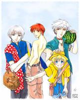 Furuba Boys for Buta - collab by TasiaChiba