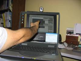Transparent Laptop by metdude