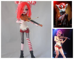 Monster High as Emilie Autumn by arkohio