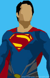 Deco/Minimalist/Polygon Superman by Amani-the-Wise