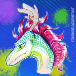 Colorful Dragon Head by firagare