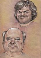 Sketchbook drafts - Tenacious D by RichkalElena