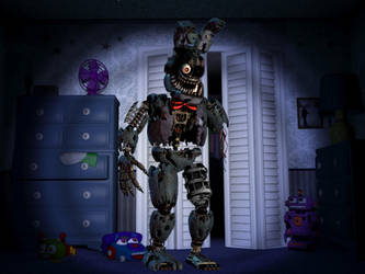 Withered nightmare bonnie by WP21