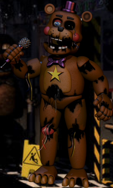 Withered Rockstar Freddy by WP21