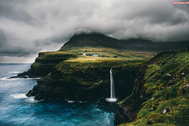Gasadalur, Faroe islands by AndrisBarbans