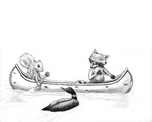 Canoe Loon Pencil Prep (WIP) by Edelslav