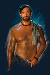 Shirtless Drover, Hugh Jackman by irudd