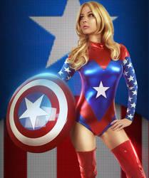 Miss Cap America by TL-Designz