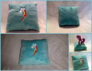 Rainbow Dash Cutie Mark Mini Pillow by DogerCraft