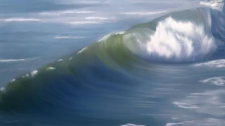 Breaking Wave by Richardas