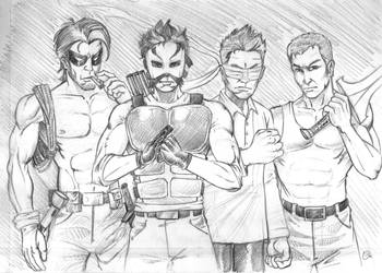 BK's Tough Guys sketch by spidey0318