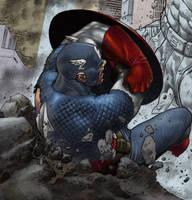 avengers sneak peek: CA by spidey0318