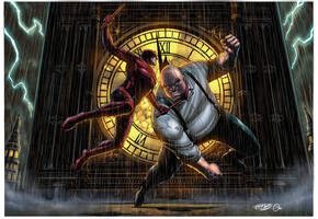 Daredevil vs Kingpin by spidey0318