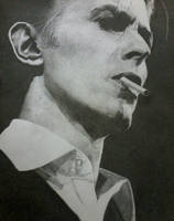 David Bowie Puntillismo by The-Little-Mermaid28