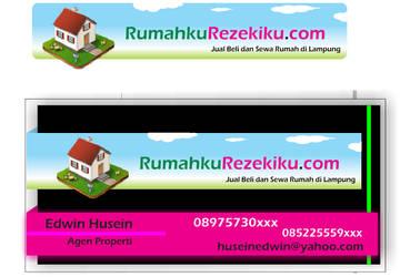 RumahkuRezekiku.com Bussiness card and Logo by citoela