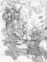 Thor vs Loki by jonathan-rector