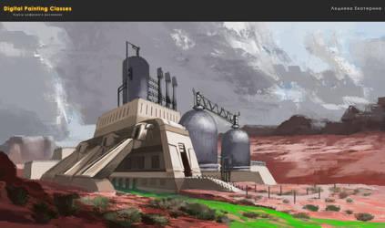 atmospheric sketch - power station by kate-aconite