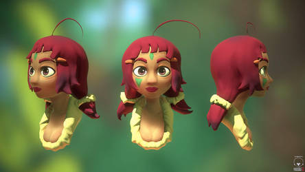 Native Girl - 3D Bust by eimiko-chan
