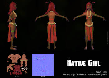 Native Girl - Wireframe by eimiko-chan