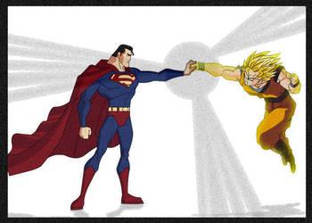 Goku X Superman by lrslink