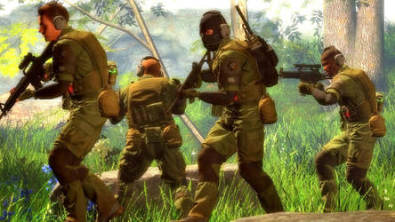 MSF Soldiers In The Forest by JohnSheppard44