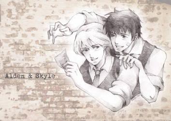 Alden and Skyle - commission by SakuraiChidori