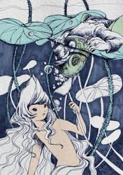 Lotus Princess and Mr. Frog by SakuraiChidori
