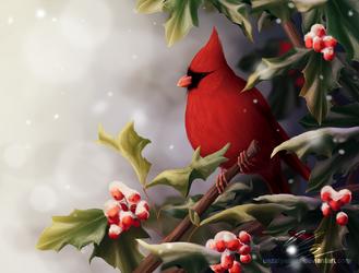 First snow (digital illustration) by UszatyArbuz