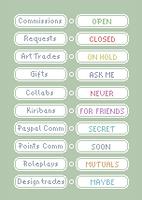 Tiny pixel art status icon pack NEW ADDED by UszatyArbuz