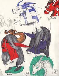 Some of my OC sketches by Alita-Berserker