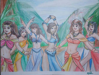 Request: Bellydancers by GieRoSajie