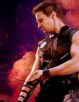 Jeremy Renner as Clint Barton / Hawkeye by tictokki