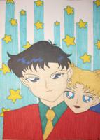 Seiya and Usagi by DavisJes
