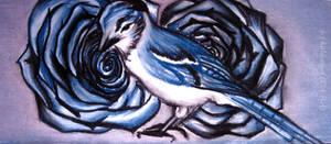 Blue birds, blue roses... by kaldengel
