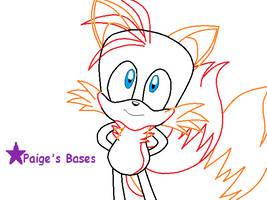 Cute Fox Base by Paige-the-unicorn