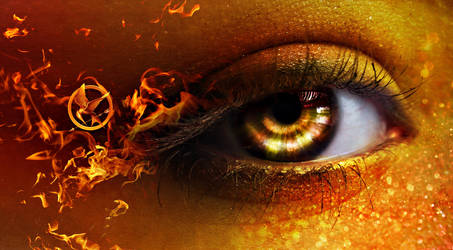 The girl on fire by EliseEnchanted