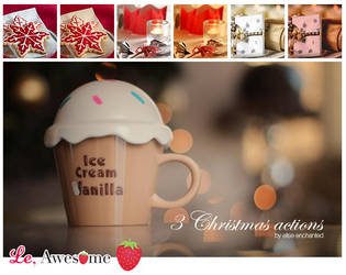3 Free Christmas actions by EliseEnchanted