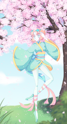 Dancing Among the Sakura Blossoms by Kiromei